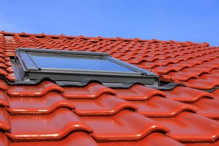 屋根のウィンドウ 写真素材
