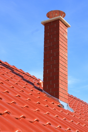 country house style: Roof and chimney