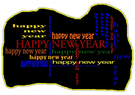 Heppy New Year  Stock Vector - 15996554