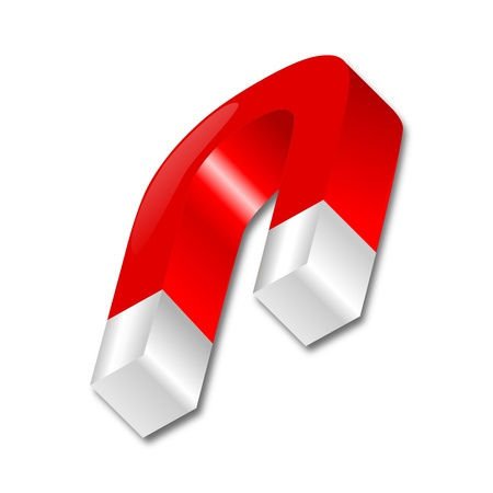 lodestone: Red horseshoe magnet Illustration