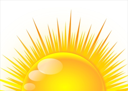 Half of the sun at sunrise Illustration