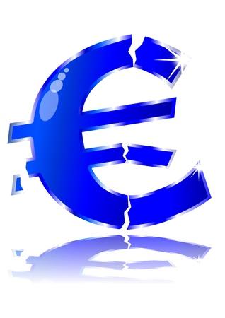 Broken Euro Stock Vector - 16161296