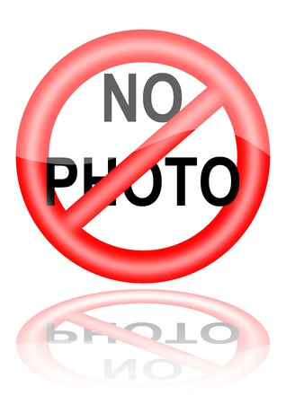 Make no photo in the mirror Vector