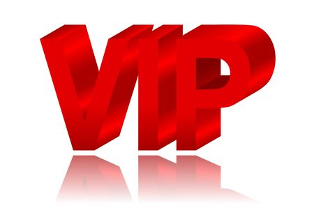 VIP sign with reflection in the mirror Stock Vector - 16253004