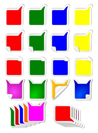 Many different color labels as an illustration Vector