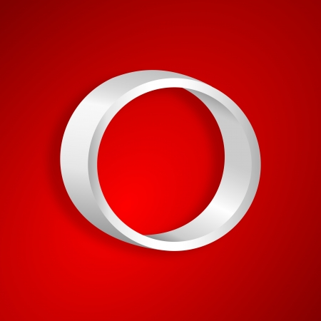 Shelf in the shape of a circle on a red background Vector