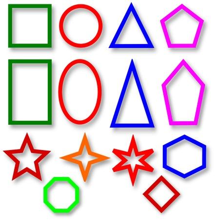trapezium: Different colored geometric shapes Stock Photo