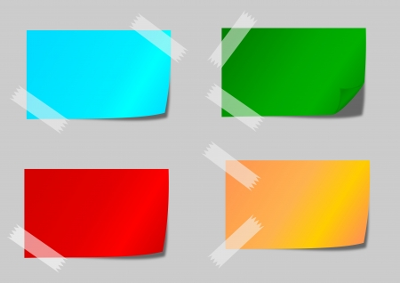 Colored paper with adhesive tape as an illustration Vector