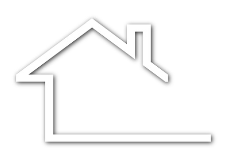 real estate house: Logo - a house with a gable roof - Illustration
