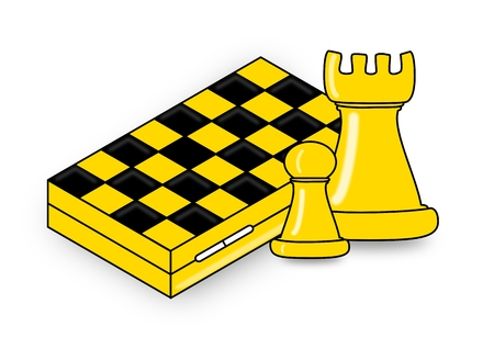 marketshare: Chess, two pieces and chessboard