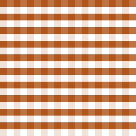 picnic blanket: Brown and white squares as the background - illustration  Illustration