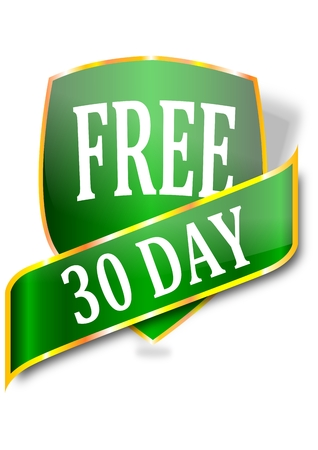 A label with the word free 30 days - vector Vector