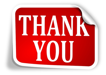 Red label with the words thank you - vector Stock Vector - 24921502