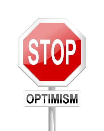 uplifting: Red stop sign with optimism test