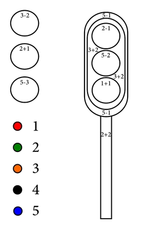 Calculate Examples Of A Colorable Semaphore - Vector Royalty Free ...