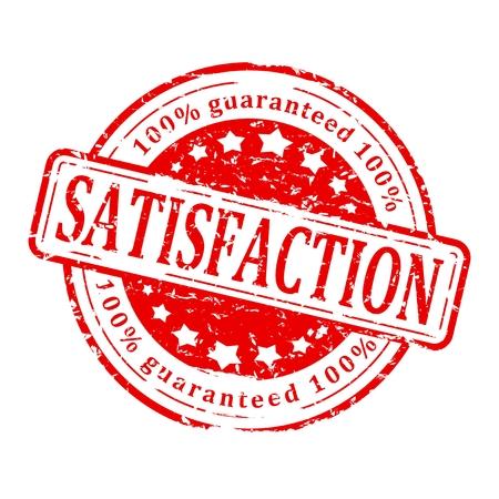 satisfaction guaranteed: Damaged round red stamp with inscription - Satisfaction Guaranteed - vector
