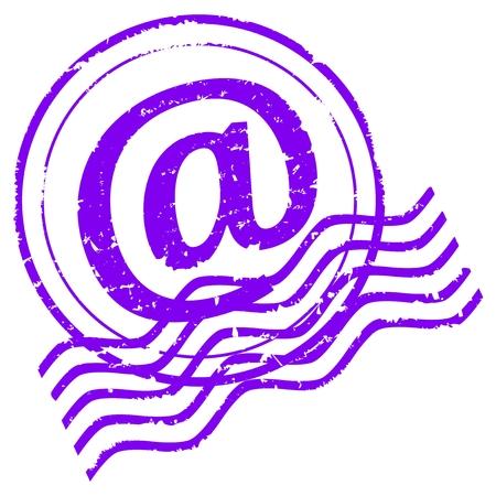 poststempel: Violet Postmark E-Mail mit Symbol f�r Mail-Vektor