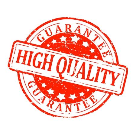"""Cachet rond rouge avec le mot «garantir la qualité"""" - vecteur"""