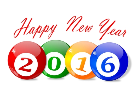 新年 2016 - のための願いをベクトルします。