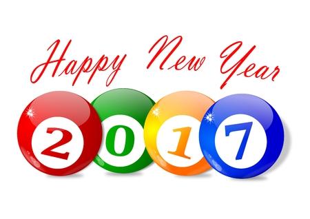 新年 2017 - のための願いをベクトルします。