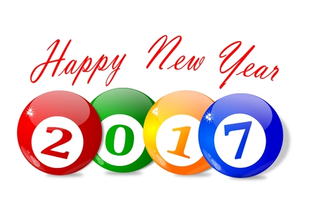 Wishes for the New Year 2017 - vector