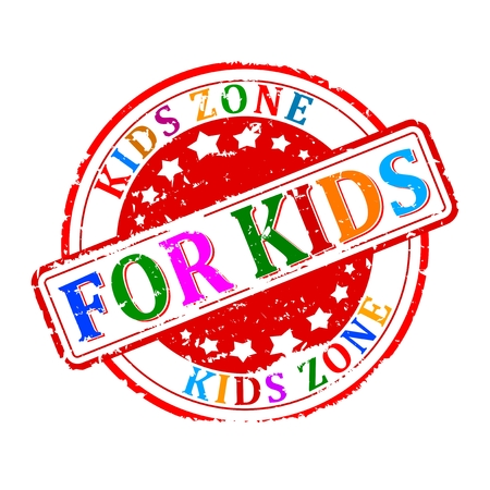 Scratched round colored stamped - for kids, kids zone