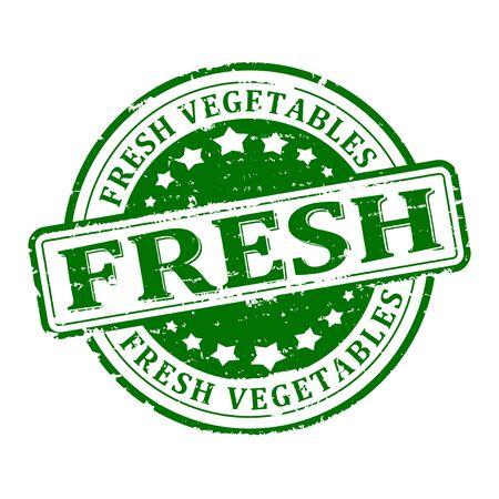 rond vert rayé estampillé - légumes frais