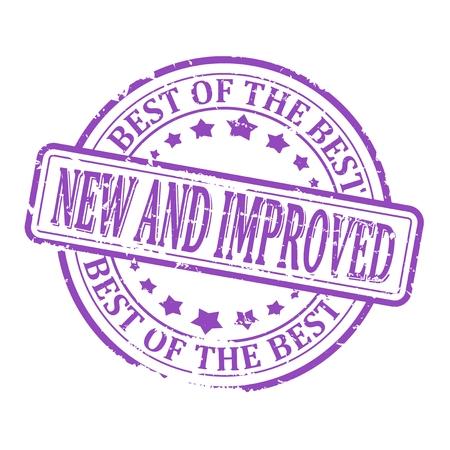 紫スタンプ - 新規および改良された、最高の最高ラウンド傷