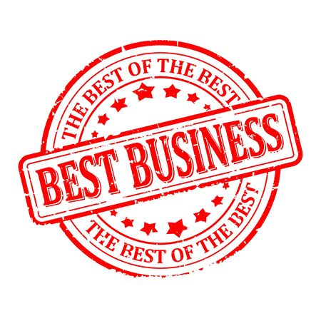 Scratched red round seal with the inscription - best business, the best of the best - vector Ilustrace