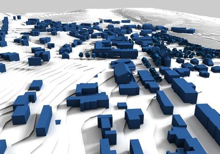 Rendered city plan