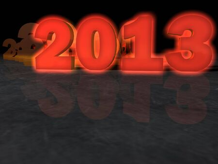 Year 2013 greeting card background