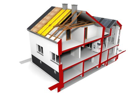 Render of an insulated family house Stock Photo - 15684896
