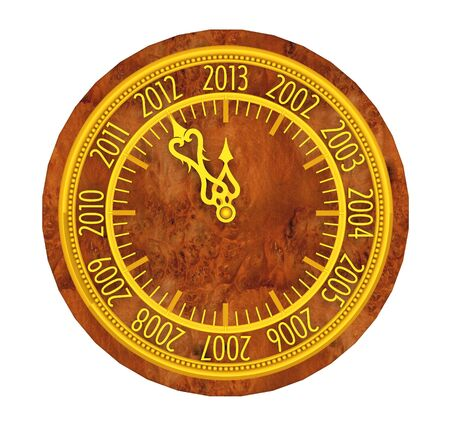 Golden clock with year 2013 Stock Photo - 15790068
