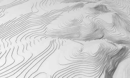 Landscape design computer generated hills Stock Photo