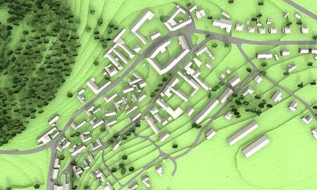 urban planning: Green city model illustration image