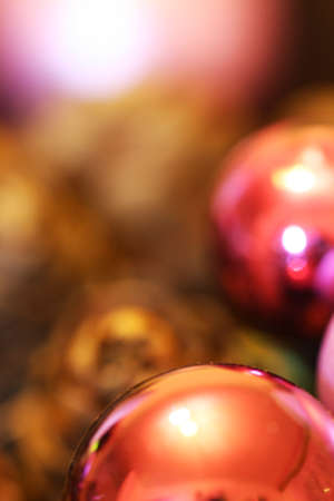 Christmas balls detail with blury background Фото со стока