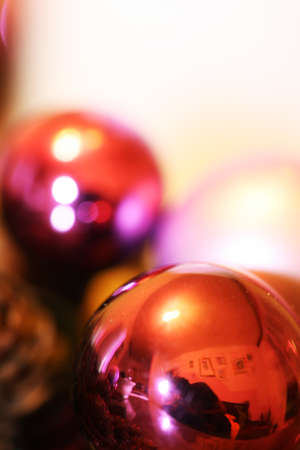 Christmas balls detail with blury background Stock Photo