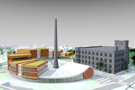 Conceptual architecture model of a city