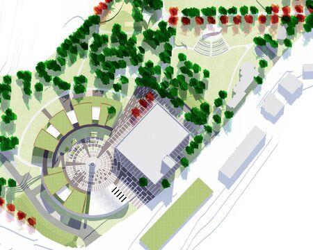 architecture model: Conceptual architecture model of a city