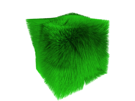 3d illustration grass object isolated on white background