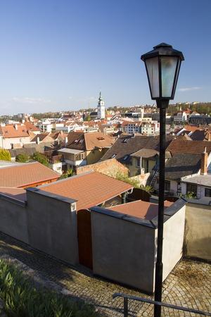 Old jewish quarter and basilica in Trebic Reklamní fotografie