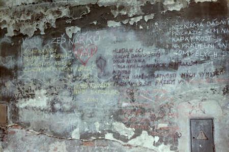 wailing: Wailing wall in Prague, Kampa 1978 year