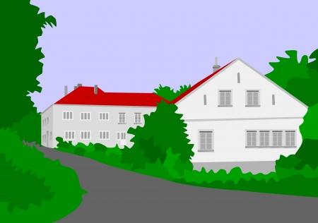 Czech village Liptan in the last century