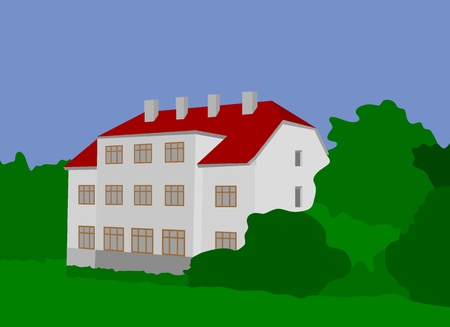 Old house Zeliv in the Woods Ilustração