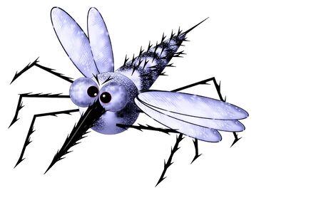 aerial animal: Mosquito in flight  Stock Photo