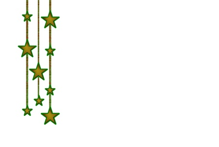 glitter gloss: Star garland advent decoration