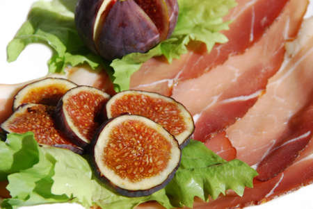 Figs with ham Mediterranean cuisine photo