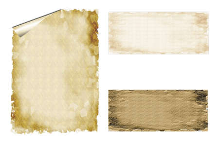 ratification: Papyrus text box Outline Stock Photo