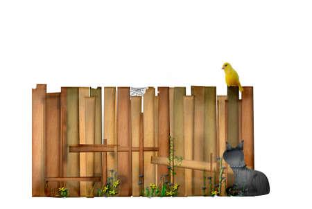Idyllic garden fence