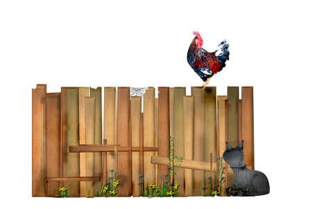 fenced: Idyllic garden fence